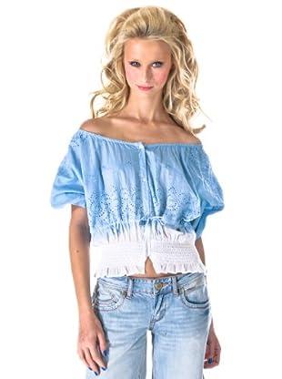Phard Camiseta Vost Cerulean (azul / blanco)