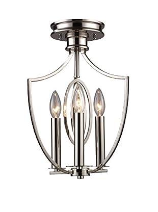 Artistic Lighting Semi Flush, Polished Nickel
