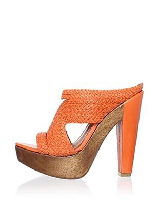 Schutz Women's Braided Clog Sandal (Flame)