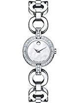 Movado Bela Analogue White Dial Women's Watch - 606265