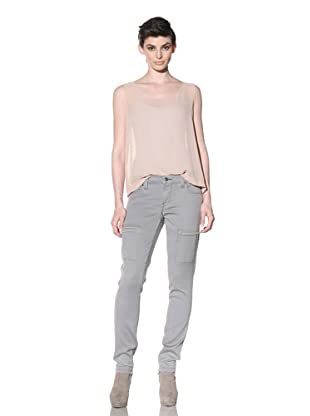 Workcustom Women's Panther Cargo Sateen Skinny Jeans (Slate Grey)