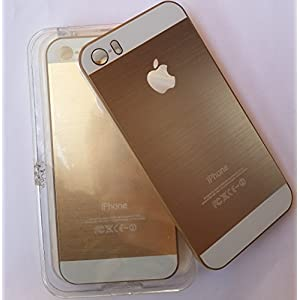 Premium Metal Hard Back Case Cover for iPhone 5 & 5S - Gold