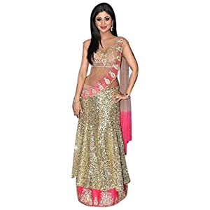 Shilpa Shetty Net With Heavy Sequence Work Bollywood Style Lehenga