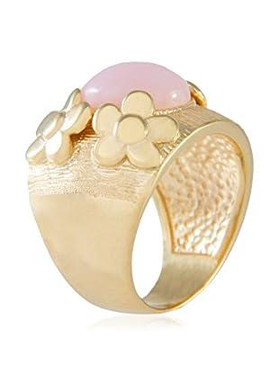 Bellavita Ring Pink Opal W/Flowers