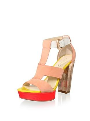 Boutique 9 Women's Rivington T-Front Sandal (Light Orange)