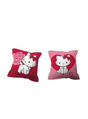 Euromoda Licencias Cojín con Relleno Charmmy Kitty  2 (Rosa / Rojo / Blanco)