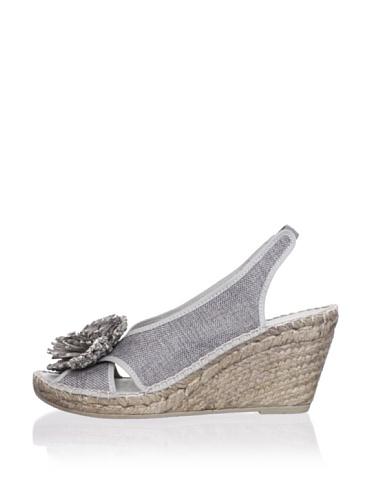 André Assous Women's Didi Espadrille (Grey Linen)