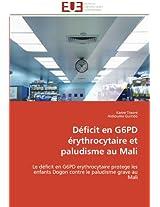 Deficit En G6pd Erythrocytaire Et Paludisme Au Mali