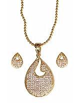 Gold plated Pendant set for women n Female-JB9168