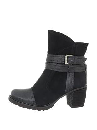 Buffalo London 46 JARANA CHESTER 137491 - Botines fashion de cuero para mujer (Negro)