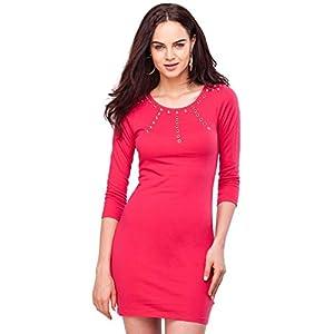 Eyelet Long Sleeve Jersey Dress