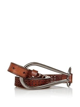 Sándalo Cinturón Perforaciones (Marrón)