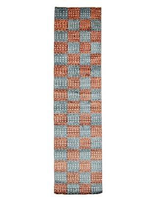 Darya Rugs Modern Oriental Rug, Blue, 2' 7