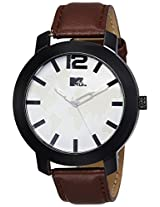 MTV Analog White Dial Men's Watch - M-3001