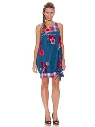 Peace & Love Vestido Flor (Azul)