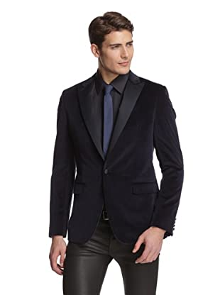 Calvin Klein Collection Men's Bowery Velvet Dinner Jacket (Navy)