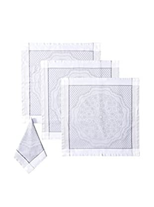Garnier-Thiebaut Set of 4 Soubise Napkins, Albatre