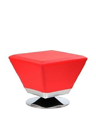 International Design USA Cube Ottoman, Red