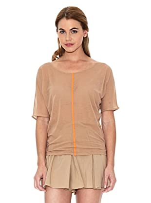 American Vintage Blusa Bicolor (Maquillaje / Naranja)
