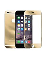 iFyx Golden Coloured Tempered Glass Screen Protector for Apple Iphone 6 plus + 5.5 inch (front & back)