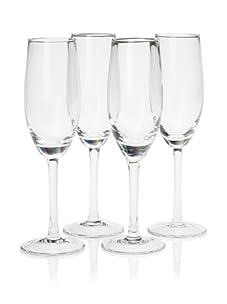 10 Strawberry Street Set of 4 Regina 7-Oz. Champagne Flutes (Clear)
