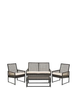 Safavieh Shawmont 4-Piece Outdoor Set, Brown/Beige