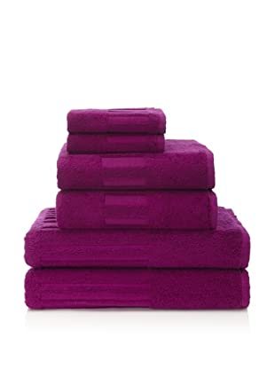 Garnier-Thiebaut 6-Piece Bath Towel Set (Fuchsia)