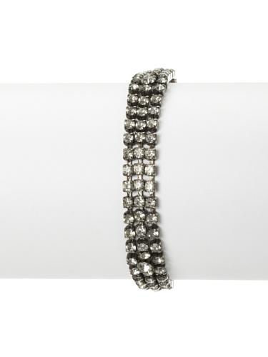 Lulu Frost 1920's Art Deco Triple Row Bracelet, Antique Silver