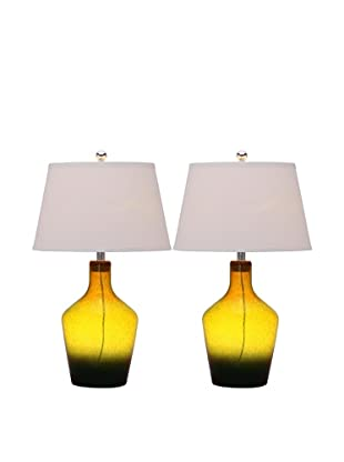 Safavieh Set of 2 Antiquaraian Glass Table Lamps