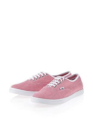 Vans Authentic Lo Pro VGYQ5QF Damen Sneaker (Rot ((Woven Stripe) red/true white))