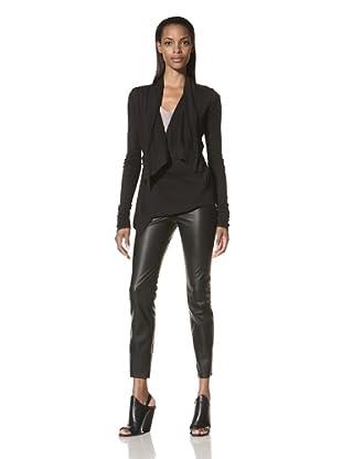 Rick Owens Lilies Women's Asymmetric Cardigan (Black)