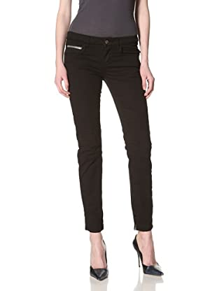Rockstar Denim Women's Biker Twill Skinny Jean (Black)