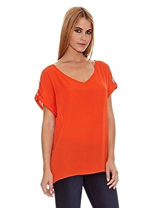 Pepe Jeans London Blusa Valentina (Naranja Oscuro)