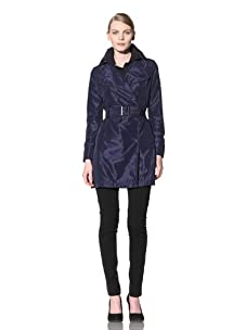 Calvin Klein Collection Women's Belted Double Breasted Light Trench Coat (Night)