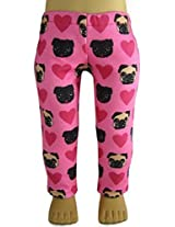 Hot Pink Pug Dog & Heart Leggings For American Girl Dolls By Dcsb