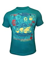 Peter England Eastern Blue T-Shirt