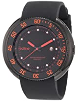 red line Men's 50069-BB-01-RA Driver Black Dial Black Silicone Watch