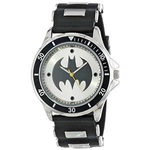 Batman Men's BAT9062 Analog Watch With Black Rubber Band