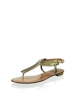 Schutz Women's Studded Thong Sandal (Gold)