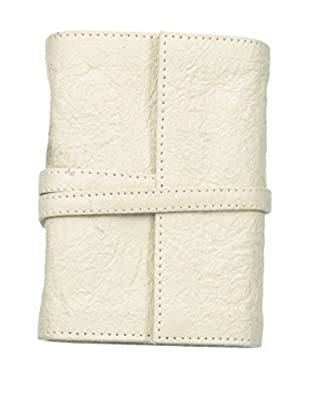 Marina Vaptzarov Small Vegetal Leather Cover Travel Diary, White