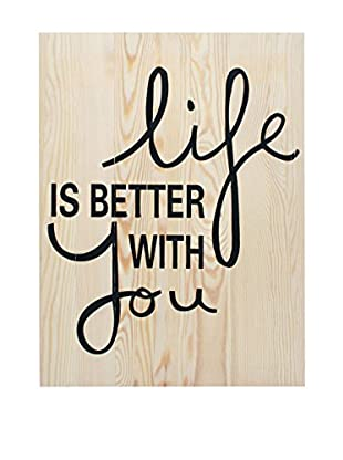 LO+DEMODA Panel de Madera Better With You