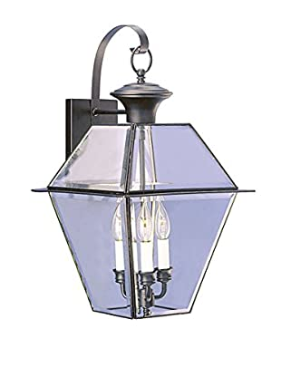 Crestwood Walden 3-Light Wall Lantern, Black