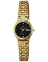 Maxima Formal Gold Analog Black Dial Women's Watch - 05959CMLY