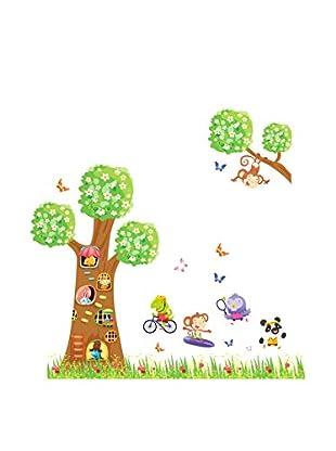 LO+DEMODA Wandtattoo Happy House Mini Trees