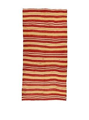 Design Community By Loomier Teppich Kilim Caucasico rot/ocker/beige 152 x 313 cm