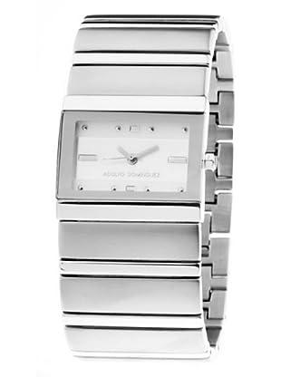 Adolfo Dominguez Watches 14052 - Reloj de Señora cuarzo brazalete metálico dial Blanco