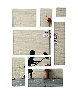 Banksy Hammer Boy 8-Piece Giclée On Canvas
