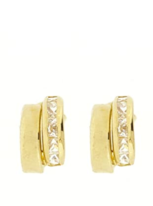 Gold & Diamond Pendientes Zirconia