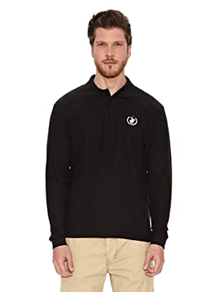 Polo Club Polo Manga Larga Custom Fit (Negro)