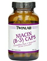 TwinLab - Niacin (B-3) Caps, 500 mg, 100 capsules